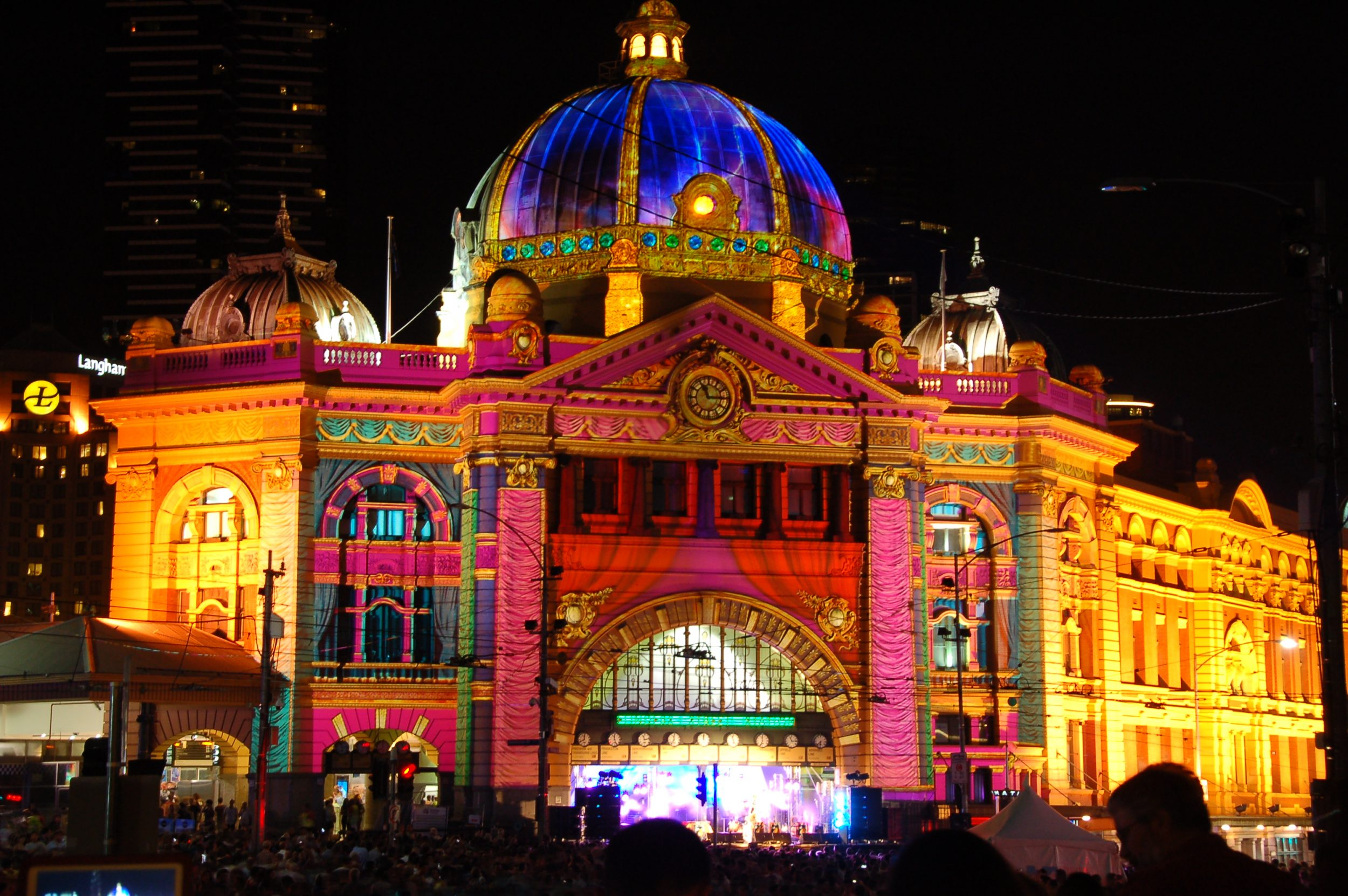 Flinders Street Station on White Night
