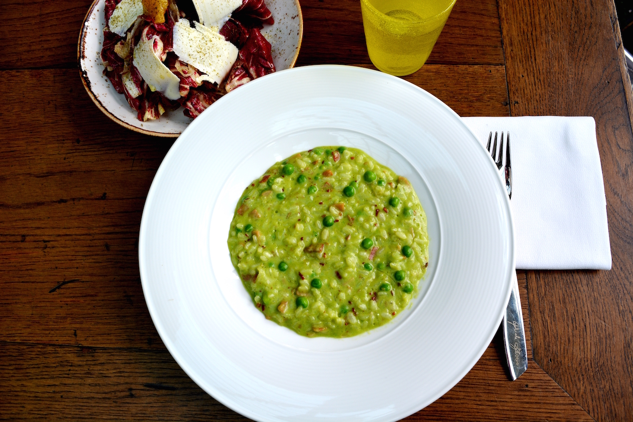 Rice and pea risotto