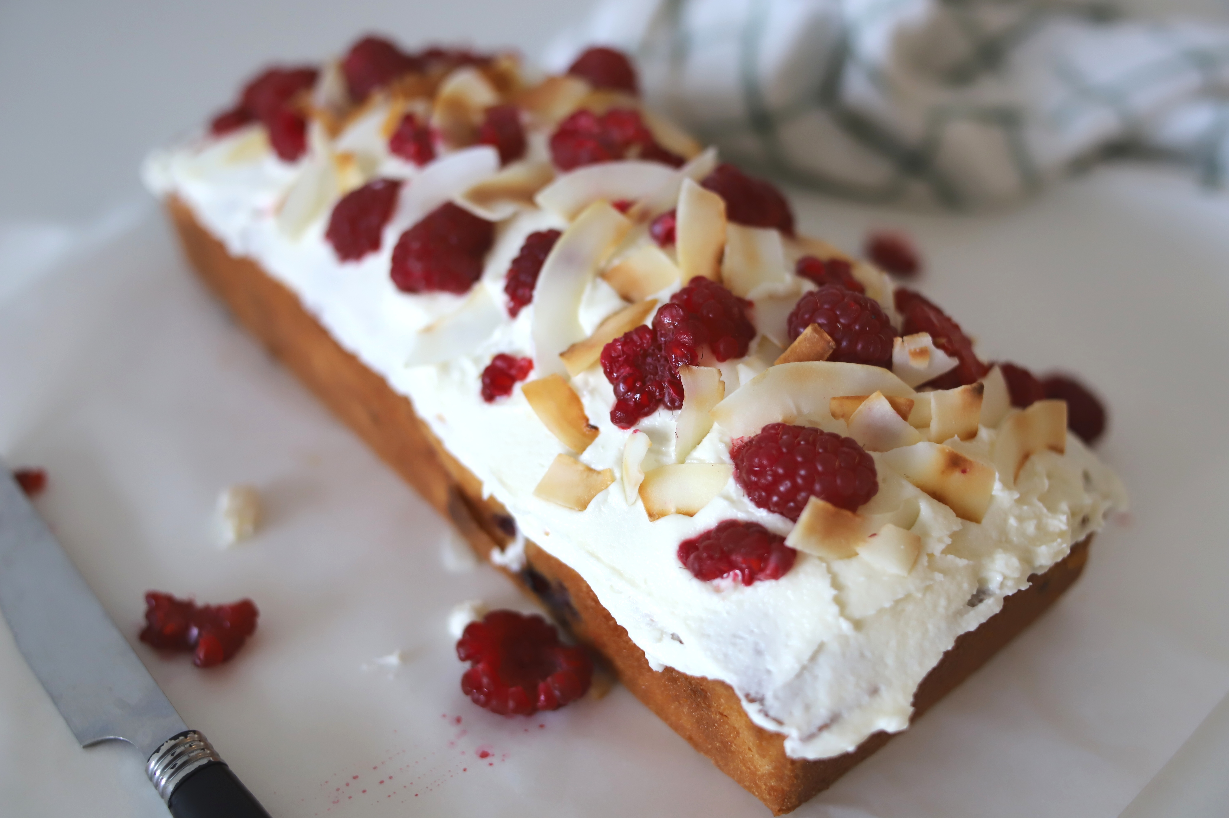 Raspberry coconut loaf