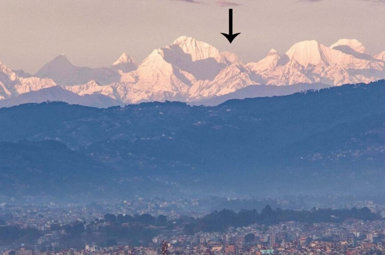 Mount Everest is now visible from Nepal capital city for the first time in living memory